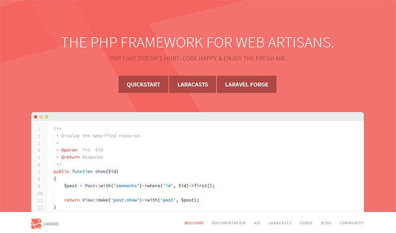 ساخت وب سایت با فریم ورک لاراول Laravel
